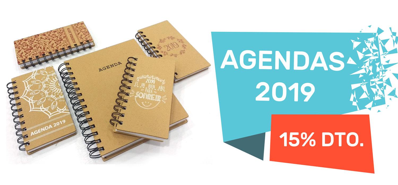 Promo Agendas 2019 con un 15% de descuento.